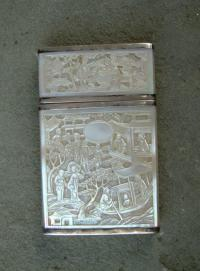 Mother of Pearl Chinese Carved Card Case