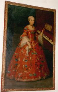 Period Spanish Catholic Princess oil on Canvas