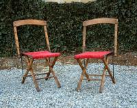 Antique pair of Victorian faux bamboo chairs