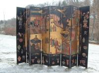Chinese Coromandel six fold room screen