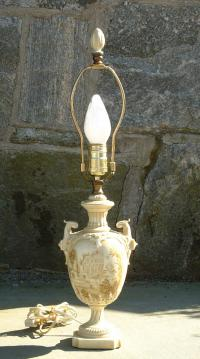Signed Royal Worcester electric Lamp
