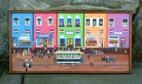 Oil on Board Folk Art Van Nuys Railroad