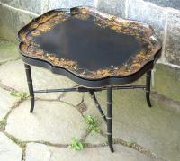 Stair and Company Hand Painted Butlers Tea Table
