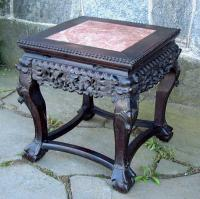Antique Chinese Marble Top Low Table circa 1890