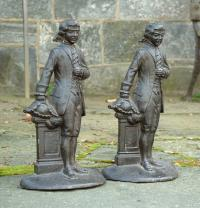 Antique Pair of Cast Iron French Door Stops