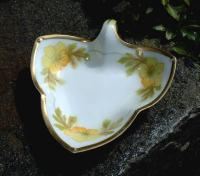 RS Germany Leaf Shaped Porcelain Dish