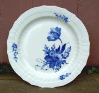 Royal Copenhagen Round Blue Flower Porcelain Dish