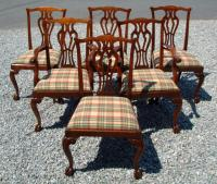Set of 6 Reproduction Chippendale Style Mahogany Dining Chairs