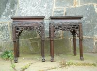 Pair of Antiques Chinese Rosewood plant stands