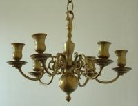 Antique Dutch Brass Chandelier circa 1900