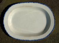 Antique Oval Feather Edge Porcelain Platter