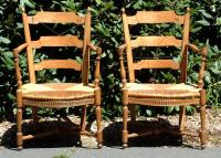 Period Antique Country French Provincial Chairs
