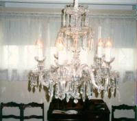 Lighting antique cut glass chandelier