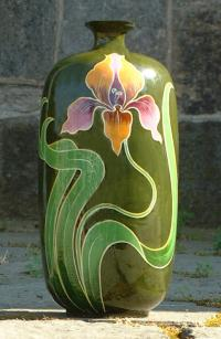 Austria Hand Painted Porcelain Flower Vase