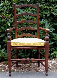 Period Antique English Ladder Back Chair