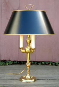Vintage Solid Brass Bouillotte Electric Lamp