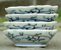 Antique Set 4 Japanese Sauce Dishes circa 1820 to 1830