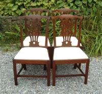 Period Antique set of English furniture Chippendale chairs c1780