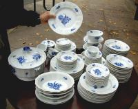 Royal Copenhagen Blue Flower Porcelain Table Service for 18