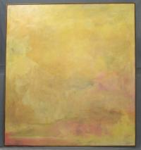 Jon Schueler Painting Yellow Sky Oil on Canvas