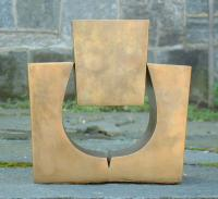 Oded Halahmy abstract bronze sculpture Forthright