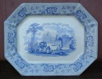 Antique Nonpareil by T and J Mayer Longport Porcelain Platter circa 1840