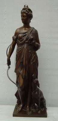 French Bronze Cast Sculpture by French Sculptor Bulio