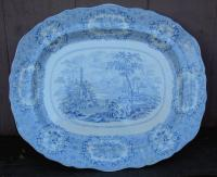 Antique Staffordshire Transferware Porcelain Platter