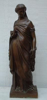 Antique Bronze Cast Sculpture by Artist Achille Collas