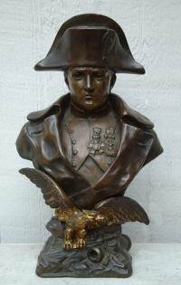 Cast Bronze Sculpture of Napoleon by Italian Sculptor O. Ruffony