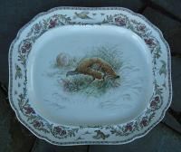 Cauldon England Porcelain Platter and Matching Plates