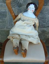 Antique China Head Bisque Porcelain Doll circa 1860 to 1870