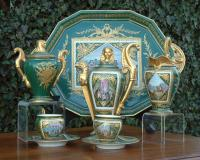 Antique Sevres Empire Porcelain Tea Set circa 1870