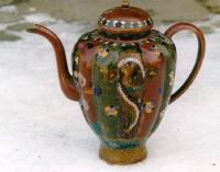 Antique Japanese fine Cloisonne tea pot