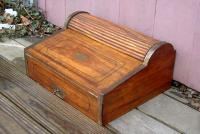 Antique Camphorwood Maritime Lap Roll Top Desk circa 1820 to 1840