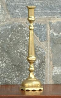 Tall Antique 19th Century French Brass Candle Stick