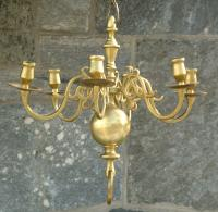 Antique Dutch Brass Chandelier circa 1850 to 1900