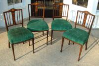 Inlaid antique French Rosewood dining chairs c1860 to 1875