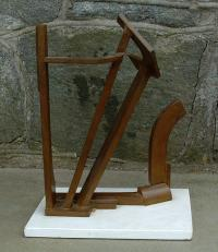 Oded Halahmy abstract bronze sculpture