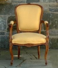 Vintage French Bergere Walnut Frame circa 1920