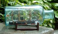 Antique Japanese Ship in a bottle circa 1860 to 1870