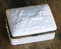 Antiques Capo di Monte soft paste box