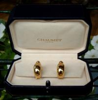 Chaumet 18 karat gold and sapphire earrings French