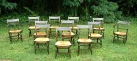 Antique Sheraton Country Fancy Chairs set of 12