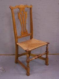 Early maple Spanish foot chair 18thc