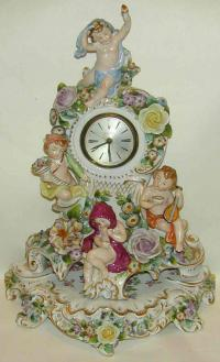 Antique Bayard porcelain mantle clock