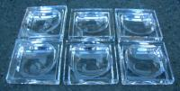 Set of Six Baccarat glass Salt Dishes