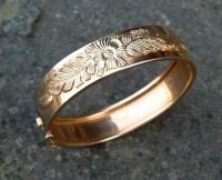 Antique French yellow rose gold bracelet c1900