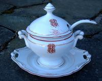 Antique Old Paris French Porcelain Sauce Tureen