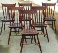 Antique set thumb back Windsor chairs